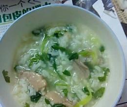 瘦肉青菜粥的做法