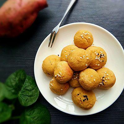 少油红薯糯米球