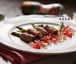 #带着美食去踏青#春日必食营养快手菜--【芦笋里脊肉卷】的做法