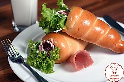 德普烘焙食谱:羊角三明治面包