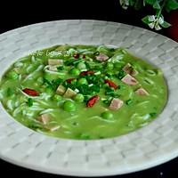 豌豆银鱼汤的做法图解12