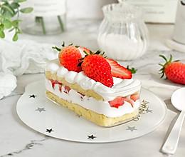 草莓奶油蛋糕盒子的做法