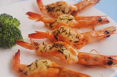 芝士百里香烤虾