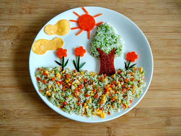 儿童节开心炒饭的做法