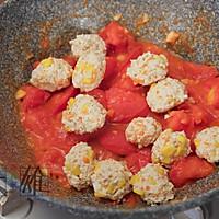 减脂健康菜:番茄玉米鸡肉丸子的做法图解5