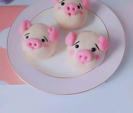 #我们约饭吧#奶香紫薯小猪包的做法