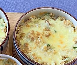 虾仁培根芝士焗饭的做法