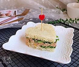 金枪鱼爱心三明治#非常规吃鱼法#的做法