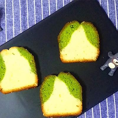 原味抹茶双拼磅蛋糕