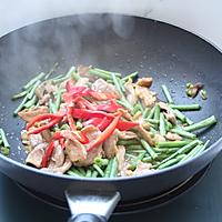 肉片炒豇豆的做法图解6