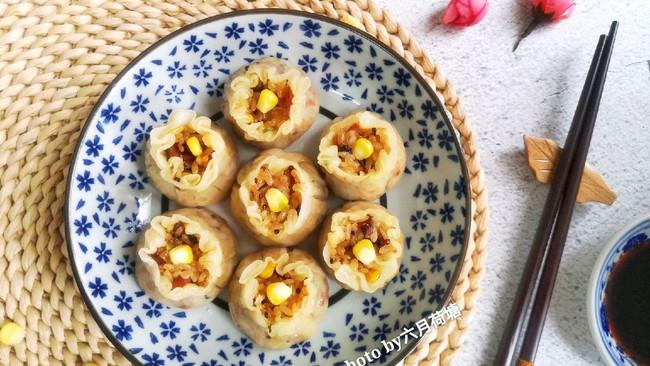 #餐桌上的春日限定#藜麦糯米烧卖的做法