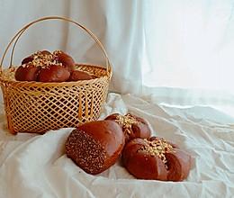香甜可口的可可奶油栗子小面包的做法