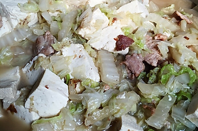 大白菜炖豆腐(深秋佳菜)
