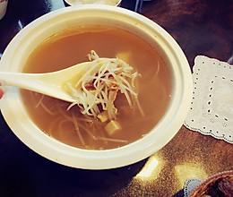 明太鱼丝干绿芽汤(简易版)的做法