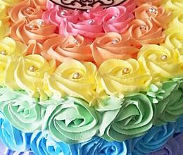 全新0失败 彩虹蛋糕 8寸6寸通用的做法