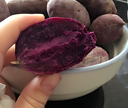 微波炉烤地瓜(紫薯)的做法