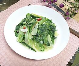 #花10分钟,做一道菜!#素炒油麦菜的做法