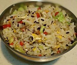 亚麻籽杂蔬炒米#急速早餐#的做法