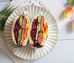 健康低卡—牛肉鸡蛋三明治的做法
