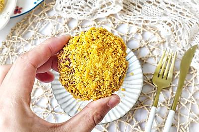 黄金紫薯芝士饼