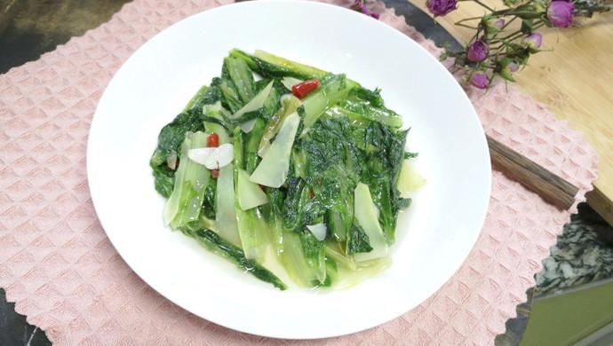 #花10分钟,做一道菜!#素炒油麦菜