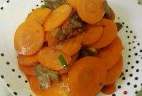 胡萝卜炒牛肉片的做法