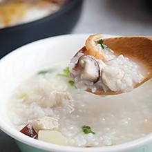 超级美味的香菇鸡胸肉粥