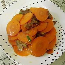 胡萝卜炒牛肉片