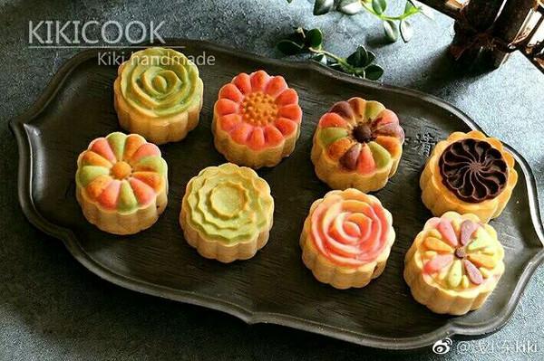 """拼色桃山月饼#享""""美""""味"""