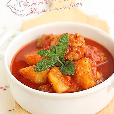 土豆番茄鸡肉汤