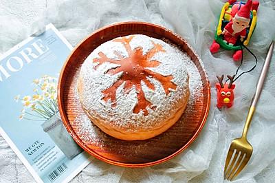 #令人羡慕的圣诞大餐#圣诞雪花面包