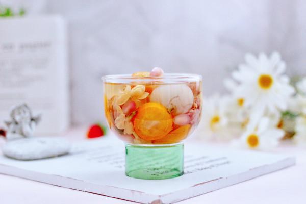 桂圆什锦水果花茶热饮的做法