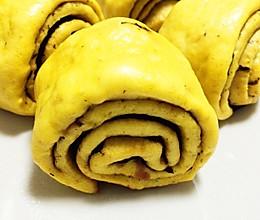 【女王厨房】反转寿司花卷 海苔南瓜花卷的做法
