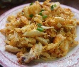 蟹肉炒蛋的做法
