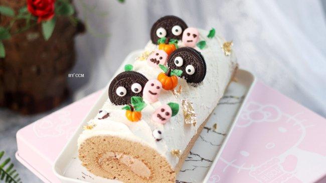 巧克力蛋糕卷-万圣节专场,可爱版蛋糕卷的做法