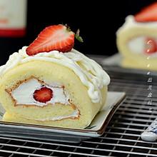草莓奶油蛋糕卷#豆果5周年#