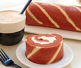 红丝绒条纹蛋糕卷的做法