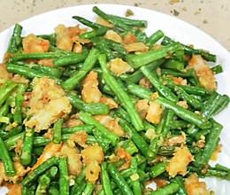 虾仁炒豇豆的做法