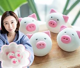 奶香芝麻馅猪猪汤圆的做法