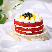 红丝绒裸蛋糕#金龙鱼精英100%烘培大赛阿小宝战队#