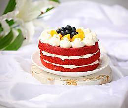 红丝绒裸蛋糕#金龙鱼精英100%烘培大赛阿小宝战队#的做法