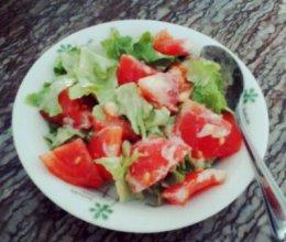 生菜番茄沙拉的做法