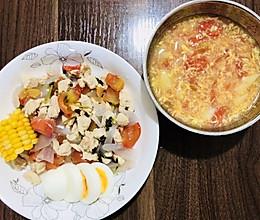 快手减脂餐--墨西哥鸡胸肉餐+番茄土豆鸡蛋羹的做法
