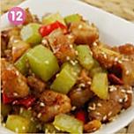 川香莴笋辣子鸡的做法图解12