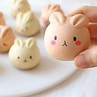 萌萌月兔烧果子,松软香甜,最佳春节手工点心的做法图解13