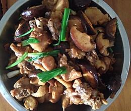 鲜冬菇炒鸡肉的做法