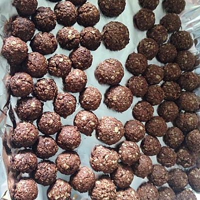 燕麦巧克力球