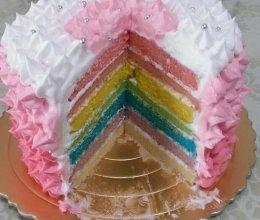 彩虹蛋糕【超详细文字说明_@_】的做法