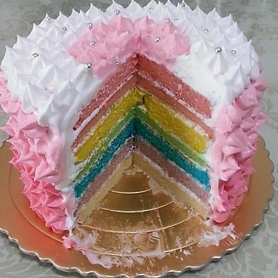 彩虹蛋糕【超详细文字说明_@_】