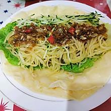 蒜蓉蔬菜卷煎饼